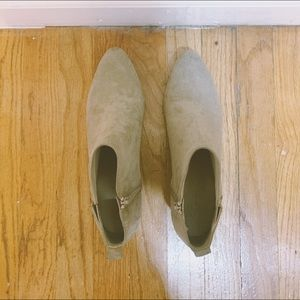Old Navy Shoes - Faux Suede Old Navy Creme Booties, Size 9